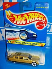 Hot Wheels 1995 Speed Gleamer Series #316 Limozeen Mtflk Gold w/ WWBWs
