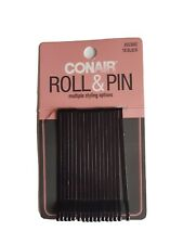 NEW Conair Black Roll & Pin Roller Pins 17 Count Missing 1 Pin(Pack 18)  #55300Z