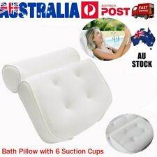 Breathable 3D Mesh Spa Bath Pillow with 6 Suction Cups Neck & Back Support VIC