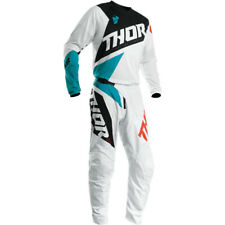 THOR 2020 S20 SECTOR BLADE RACE KIT SUIT WHITE AQUA MOTOCROSS OFF ROAD NEW MX