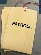 "10"" x 13"" Payroll String & Button Kraft Manila Envelopes -50 pieces"