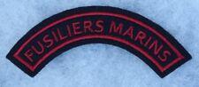 insigne de manche des Fusiliers Marins  en tissu