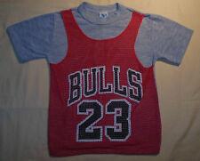 Vtg 80's Retro NBA By Wormser Chicago Bulls Jersey T Shirt #23 Jordan Youth 10