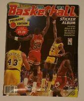 1990 91 PANINI NBA BASKETBALL STICKER ALBUM FACTORY SEALED SET w/ MICHAEL JORDAN