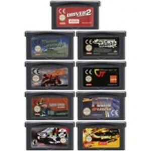 Video Game Cartridge Console Card 32 Bits Racing Games Series For Nintendo GBA