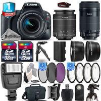 Canon EOS Rebel SL2 DSLR Camera + 18-55mm IS STM + 55-200mm STM + 1yr Warranty
