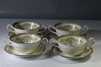 AYNSLEY HENLEY SOUP COUPES / BOWLS & UNDERPLATES x4