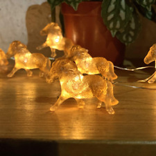 Horse String Lights, Equestrian Themed Night Light Copper Wire 10 Feet 24 LEDs