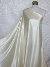 100% Silk Satin Charmeuse Fabric Off White Per Yard
