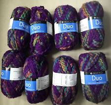 Berroco Duo yarn 8 skeins Purple Multi  Same Dye Lot Wool Blend