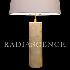 WALTER VON NESSEN BRONX STUDIO NY STREAMLINE MODERN MARBLE BRASS TABLE LAMP 60'S