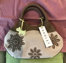 NEW Radley Medium Size Leather and Canvas Bag
