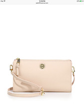 NWT Authentic Tory Burch $225 Robinson Leather Crossbody Wallet Bag, Sweet Melon