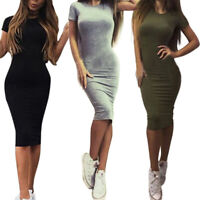 Women Bandage Bodycon Casual Sleeve Evening Party Cocktail Club Mini Dress S-XL