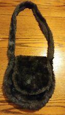 Fashion Women Real Fox Fur Handbag Handmade Bag satchel Winter Bag Black NICE