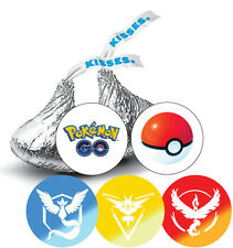 108 Pokemon Go Birthday Hershey Kiss Stickers