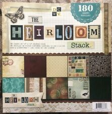"""Diecuts With A View DCWV Paper Stack 12""""X12"""" 180/Sheets-Heirloom, 60 Designs/3"""