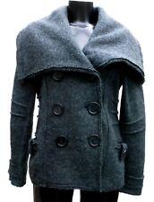 Veste Manteau ICI et MAINTENANT Taille 38 / 40 M / L gris 100% Laine TBE Hiver