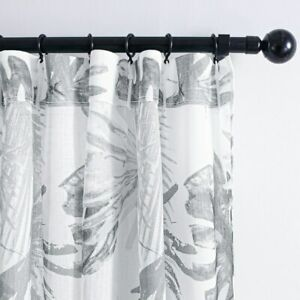 Leaf Transparent Curtain Living Room Bedroom Plant Tulle Kitchen Curtain Panel