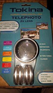 NEW TOKINA Camera/ Video Digital Lens Telephoto 2X Lens - Fits Most Brands