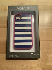 Agent 18 Strip Vest Silicone soft shell cover Case for iPhone 4/4S Stripe Vest