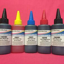 5x100ML DYE INK REFILL BOTTLES CANON MG5150 MG5250 MG5350 MG5450 REFILLABLE CISS