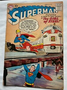 SUPERMAN # 123, Aug. 1958, DC SILVER AGE VG Condition, Nice Comic