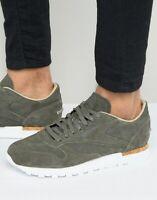 Reebok Men's Classic Leather LST Suede Urban Gray Cork Sneakers Size 11