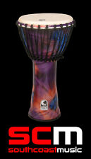"TOCA FREESTYLE DJEMBE 10"" INCH PURPLE SYNTHETIC LIGHTWEIGHT HAND DRUM - NEW"