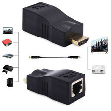 30M 98ft HDMI 2.0 4K 1080P Extender Over Single RJ45 Cat 5e/6 Ethernet Repeater