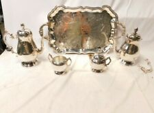 FB Rogers Silver Company 1960 5 Piece Coffee And Tea Set W/ Tray