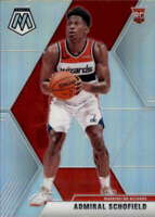 2019-20 Panini Mosaic Silver #202 ADMIRAL SCHOFIELD  RC Rookie Wizards