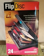 Laser Line CD DVD  Hard Flip Case Portable 24 Disc Storage Holder Rugged Compact