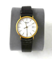 Vintage Men's Raymond Weil Geneve Quartz 18k Gold Electroplated Watch 10M 5507-2