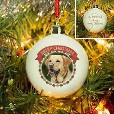 Personalised Pet Christmas Bauble, Add Your Own Photo & Message, Stunning Gift