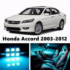 17pcs LED ICE Blue Light Interior Package Kit for Honda Accord 2003-2012