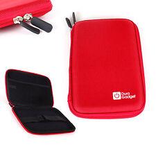 Red Hard Shell EVA Case W/ Soft Lining For Kobo Aura HD High-Res eReader