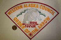 OA NANUK LODGE 355 WESTERN ALASKA COUNCIL PATCH POLAR BEAR LARGE TRIANGLE FLAP