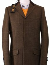 Holland Esquire HAND CUSTOMISED YORKSHIRE TWEED WOOL Winter Coat UK36 EU46 NEW