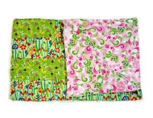 Handmade Baby Quilt Blanket Reversible Unique Multicolor Lady Bugs Worms Frogs