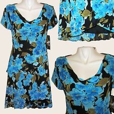 NEW Donna Ricco Dress Faux Wrap Cowl Neck Cocktail Formal Career 100% Rayon Sz 6
