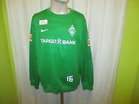 """Werder Bremen Nike Spieler Freizeit-Training Sweatshirt """"TARGOBANK"""" + Nr.16 Gr.M"""