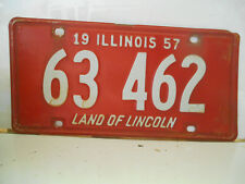 plaque immatriculation  usa 1957 illinois license plate old americaine