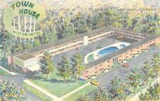 TOWN HOUSE MOTOR HOTEL Tuscaloosa, Alabama Roadside Motel 1960 Vintage Postcard