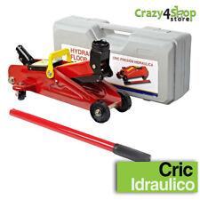 CRICK CRIC IDRAULICO AUTO SOLLEVATORE MARTINETTO CARRELLO MECCANICO 2 TONNELLATE