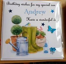 personalised handmade birthday card  Dad granddad uncle brother son