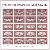 Air Mail In Red Commemorative Sheet of 20 Forever Stamps Scott 5282