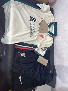 Youth Liverpool FC Kit. New Tagged Shorts Small Shirt Medium