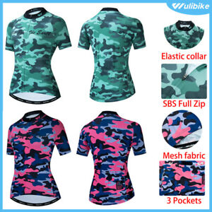 Women Cycling Jersey Short Half Sleeve Breathable Bike Road Shirt Top Quick Dry