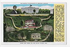 The Earthly Pilgrimage of Lincoln From Log Cabin to the White House Postcard